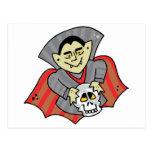 Vampire & Skull Postcard