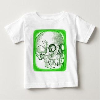VAMPIRE SKULL PRINT IN BRIGHT GREEN BABY T-Shirt