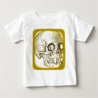VAMPIRE SKULL PRINT IN GOLD BABY T-Shirt