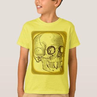 VAMPIRE SKULL PRINT IN GOLD T-Shirt