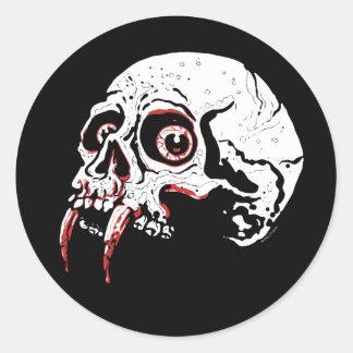 Vampire Skull Round Stickers