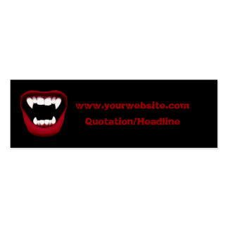 Vampire Smile Skinny Website Card Double-Sided Mini Business Cards (Pack Of 20)