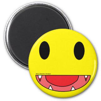 Vampire Smiley 2 Inch Round Magnet