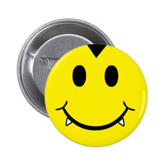 Vampire Smiley Pinback Buttons