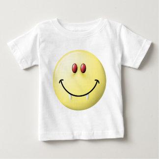 Vampire Smiley Face Baby T-Shirt