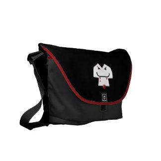 Vampire Smiley Face Courier Bag