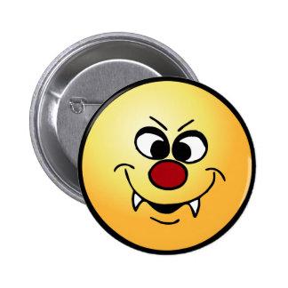 Vampire Smiley Face Grumpey Button