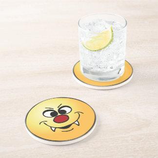 Vampire Smiley Face Grumpey Drink Coaster