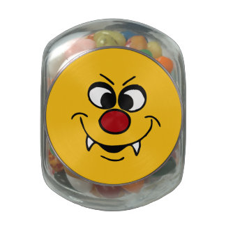 Vampire Smiley Face Grumpey Jelly Belly Candy Jars
