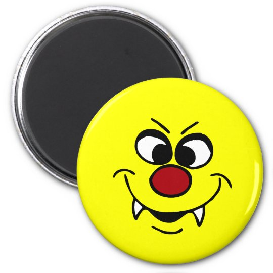 Vampire Smiley Face Grumpey Magnet