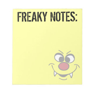 Vampire Smiley Face Grumpey Notepad