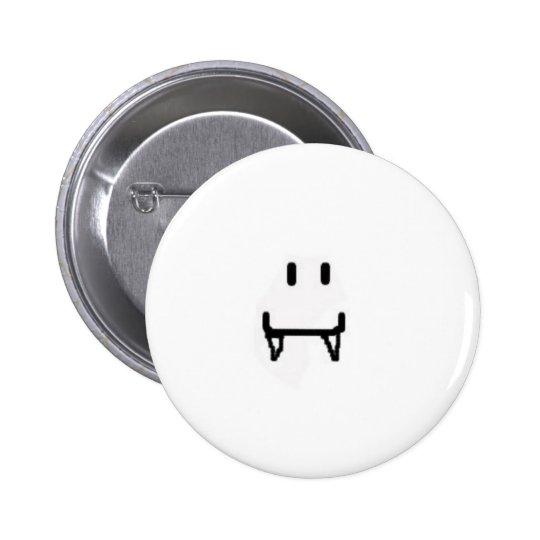 vampire smiley face pinback button