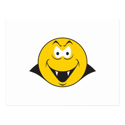 Vampire Smiley Face Post Cards