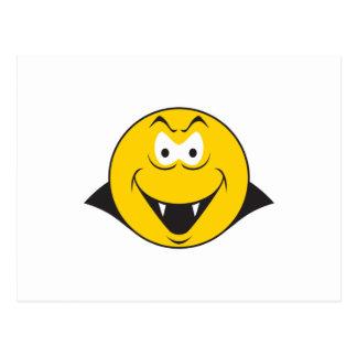 Vampire Smiley Face Postcard