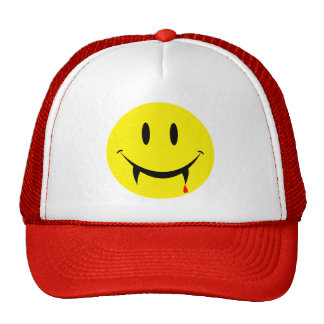 Vampire Smiley Face Trucker Hat