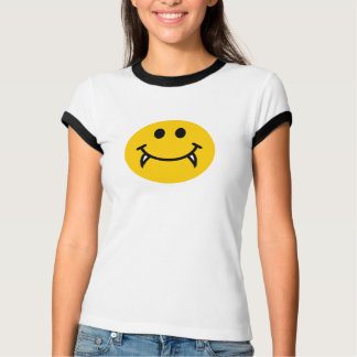 Vampire smiley face with fangs T-Shirt