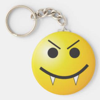 Vampire smiley keychain
