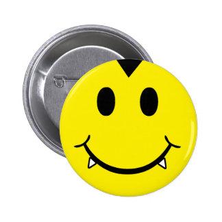 Vampire Smiley Pinback Button