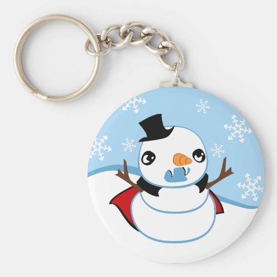 Vampire Snowman Keychain