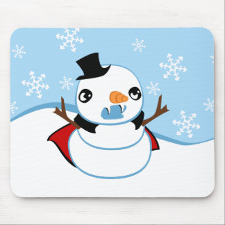 Vampire Snowman Mouse Pad