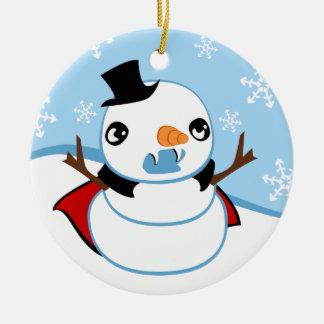 Vampire Snowman Ornament