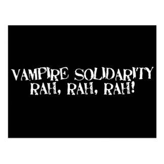 Vampire Solidarity rah, rah, rah! Postcard