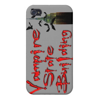 Vampire State Building & Bats Goth iPhone Case iPhone 4 Cover