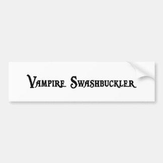 Vampire Swashbuckler Bumper Sticker