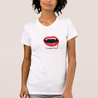 Vampire Teeth Blood Halloween Goth T Shirt Top