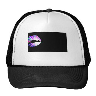 Vampire Teeth Lightshow Silhouette Trucker Hat