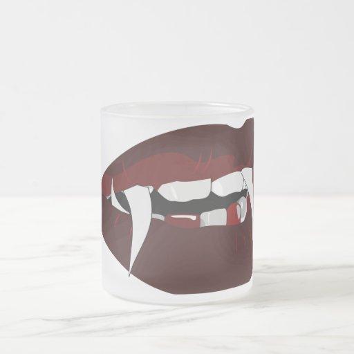 Vampire teeth mug