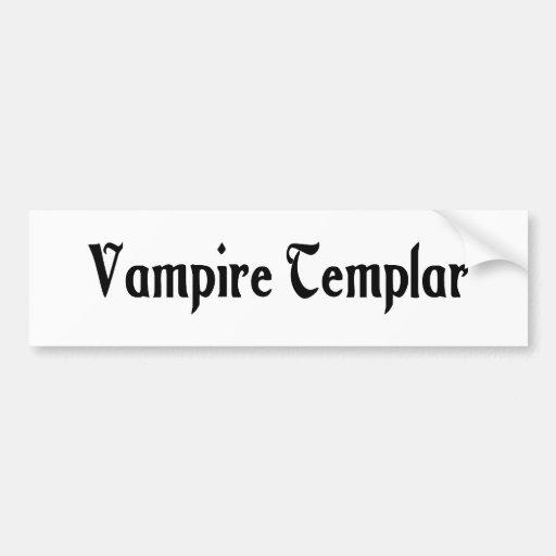 Vampire Templar Bumper Sticker Car Bumper Sticker