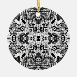 Vampire Toon Dramatic Black&White Double-Sided Ceramic Round Christmas Ornament
