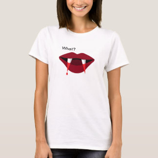 Vampire Tshirt Blood Dripping Fangs