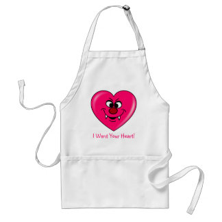 Vampire Valentine: Give your heart to me Adult Apron