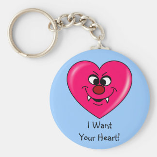 Vampire Valentine: Give your heart to me Keychain