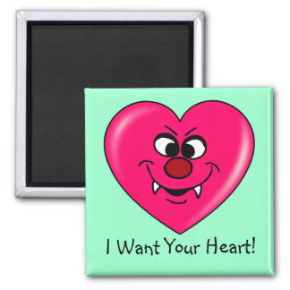 Vampire Valentine: Give your heart to me Fridge Magnet