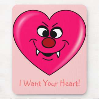 Vampire Valentine: Give your heart to me Mouse Pad