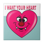 Vampire Valentine: Give your heart to me Ceramic Tiles