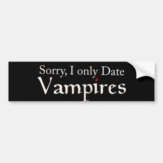 Vampire Vampires Fan Halloween Bumper Sticker