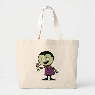 Vampire Vino Large Tote Bag