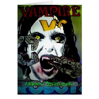 'Vampire Vs. Robots' Birthday Card