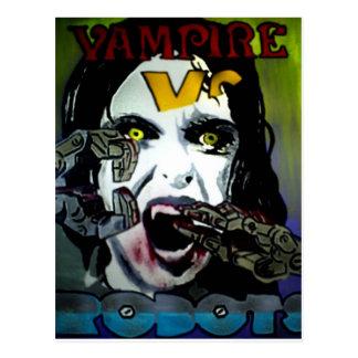 Vampire vs Robots Postcard