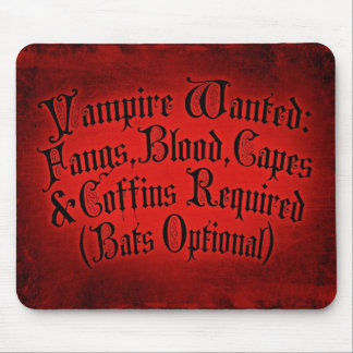 Vampire Wanted Mouse Pad