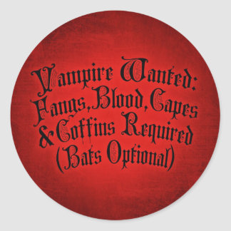 Vampire Wanted Stickers
