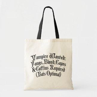 Vampire Wanted Tote Bag