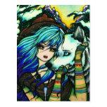 Vampire Werewolf Snow Fantasy Fairy Art Postcard