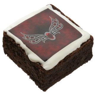 Vampire Winged Jewel Goth Art Chocolate Brownie