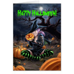 Vampire Witch Halloween Card