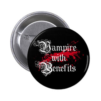 Vampire with Benefits Button